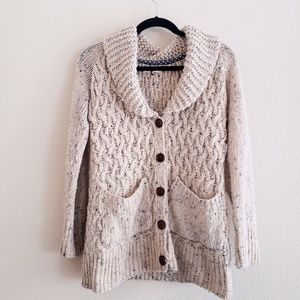 ANTHROPOLOGIE Thick Knit  Cream Cardigan
